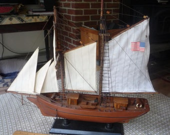 Wooden Model Ship (static display) over 18""