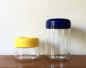 Mod Set of Vintage Vignelli for Heller Glass Canisters