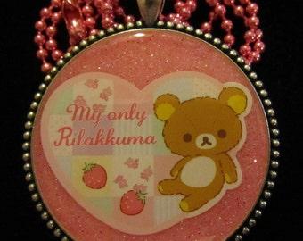 Teddy Bear Necklace-Handmade Resin Pendant Jewelry