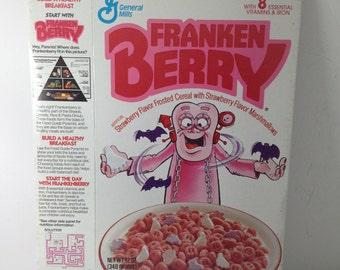 Vintage Cereal Box frankenberry