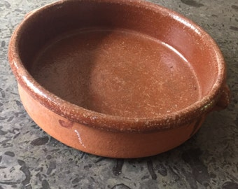 Antique dutch Earthenware tureen terrine pan shabby chic kitchen vintage Provence deco terracotta