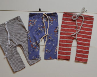 Ready to ship Newborn pants shorts OOAK choose your pattern - flowers or stripes NB photo prop