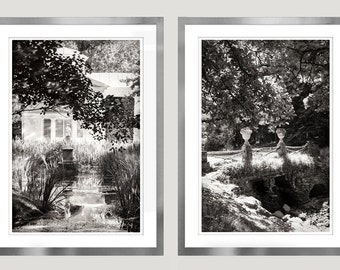 Large wall art Set of 2 black and white prints, Landscape photography, nature vertical art posters, living room decor, 8x12, 16x24, 24x36