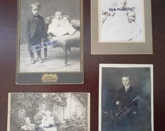 ON SALE vintage set of four child photo's
