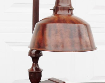 Vintage, Apollo Electric Co. Jeweler's Lamp, Desk Lamp, with Faux Wood Grain, made in Chicago