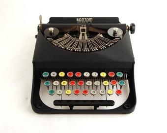 Remington Bantam Typewriter w/ Colored Keys