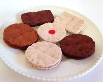 Felt Pretend Play Food Biscuit Selection with Gift Box