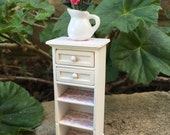 Shabby Chic/French/Cottage Rose Storage Cupboard - Dollhouse Miniature