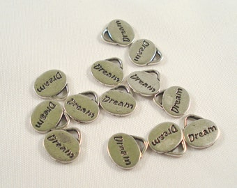 11mm Silver Tone Dream Charms Pack of 6 Word Charms Dream Pendant C39