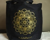 Mehndi Mandala Canvas Tote Bag by Blue Lotus Henna