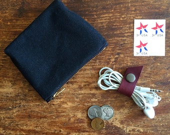 XSmall Waxed Canvas Pouch