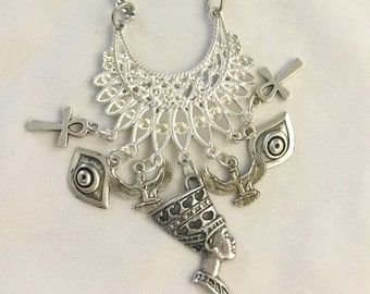 1 Sliver Egyptian Necklace/Free Shipping