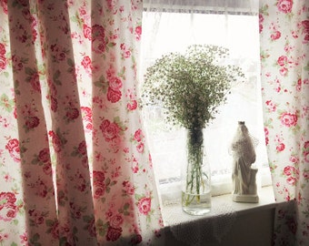 Shabby Chic Curtains Window Treatments Rosali Floral