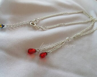 Blood Drops, Crystal necklace