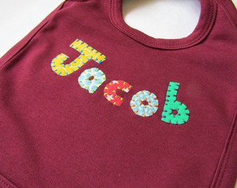 Personalised Baby Bib - Embroidered Bib - Personalized Bib - Baby Gift