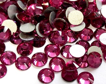 Fuchsia Crystal Rhinestone High Quality 144pc No Hotfix