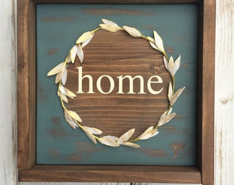 Farmhouse Home mixed media sign