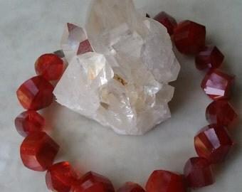 Pomegranate red bracelet