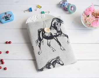 Linen horses Kindle sleeve, iPad mini sleeve, Kindle Paperwhite sleeve, Kindle Fire case, Kobo case, Nexus 9 sleeve, ipad sleeve, Nook case