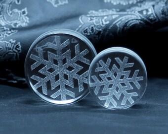Glass Snowflake Plug