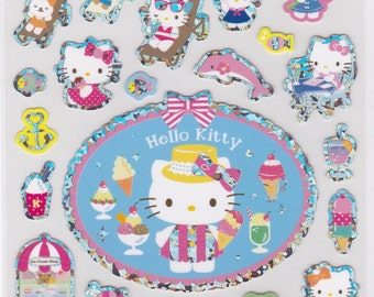 Sanrio Original Hello Kitty  Glittered Summer Stickers (423220) Buy other items together for BETTER price.
