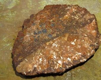 Rare Acid Etched Copper Replacement Cobble Boulder Slab Specimen