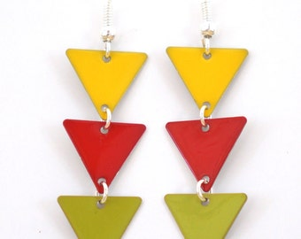 "Earrings oreillles ""Red green yellow flag"""