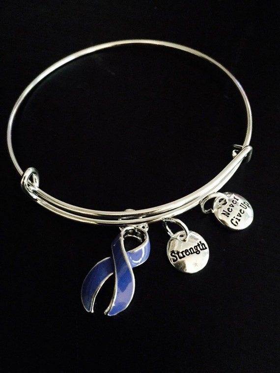 periwinkle ribbon awareness bracelet anorexia esophageal