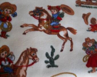 Toddler/Baby Fleece Blanket - Little Cowpokes - Cowboys/Cowgirls - Western