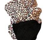 Pink Minky Baby Blanket-Animal Print Blanket -Leopard Print Blanket-Baby Girl Blanket-Car Seat Blanket- Stroller Blanket - 29 x 36 in.