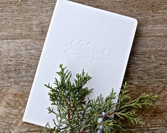 White Hallelujah Journal- Hardcover- Lined