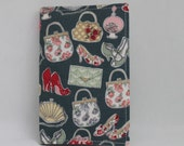 Green fabric notebook cover