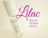 Lilac Perfume - Perfume Oil - All Natural Fragrance & Essential Oils  .3 oz Glass Roll On Perfume Bottle