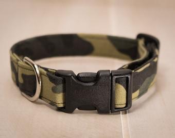 Dog Collar, Camouflage Dog Collar, Camo Dog Collar