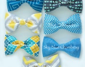 Baby - Toddler Bow Ties - Handmade Fabric Bowties - Adorable Bow ties for Baby boys and Toddlers - Choose ONE Bow tie from 7 options