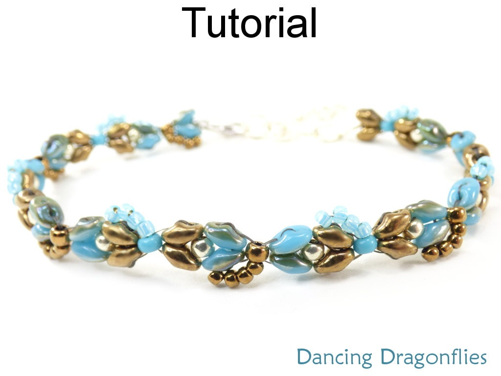 Super Duo Bead Pattern - Beaded Dragonfly Bracelet - Beading ...