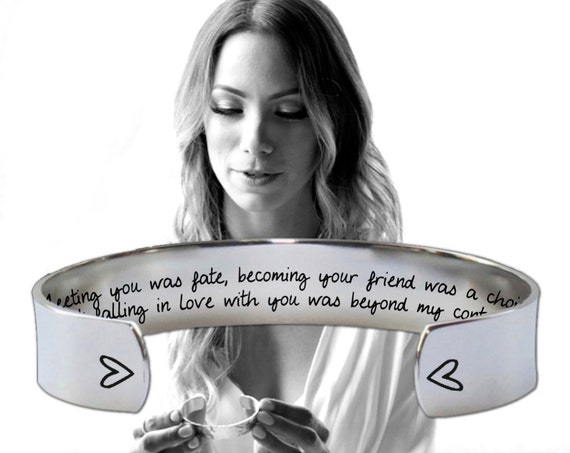 Wife Gifts   Girlfriend Gifts   Fiance Gifts   Anniversary Gifts   Meeting you was fate... Custom Personalized Bracelet Korena Loves
