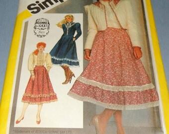 Sz 8 GUNNE SAX Simplicity 5491 Skirt, Blouse and Jacket pattern Uncut