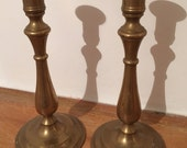 Pair of Vintage Brass Candlesticks Laura Ashley