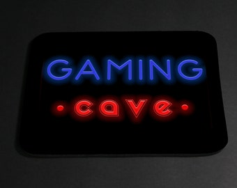 Gaming or Gamer Cave foam rubber mouse pad