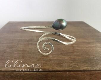 Pākōlea Cuff 11.9mm Tahitian Pearl