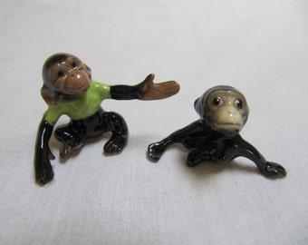 Vintage Hagen Renaker Monkey Pair