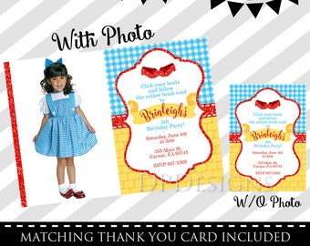 Wizard of Oz Invitation -FREE Matching Thank You Card