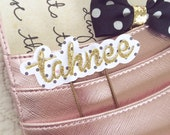 Personalized Planner Clip - Tiny dots