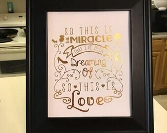 Cinderella Inspired Foil Print