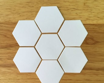 "English Paper Piecing, 1/2"" Hexagon Paper Pieces, Honeycomb Bee hive papers, Quilting supply, Sewing supplies"