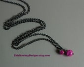 Pink Planet chain necklace / jewelry / necklaces / handmade / etsy / female artist / galaxy / black / grunge / gifts for women
