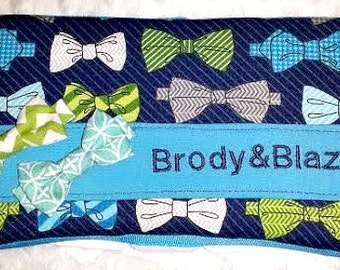 Bowtie Baby Boy Decorated Diaper Wipes Case