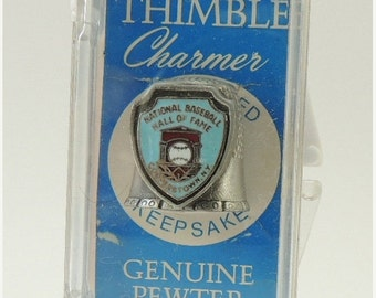 Sizzlin Summer Sale National Baseball Hall of Fame Thimble Charmer Souvenir Thimble in Original Packaging