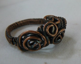 Copper- ring - size 8